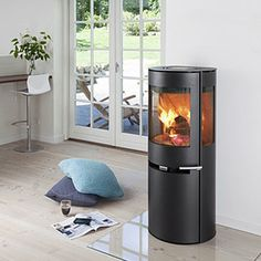 Aduro DEFRA Wood Burning Stove, Woodburning Stoves, by Aduro Wood Burning Stoves, Smoke-Controlled Stoves are DEFRA approved for use in smoke exempt urban, town and city zones. The Aduro is a tall stove with an impressively large glass a. House Design, Wood, Stove, Home, Fireplace Stores, Home Office Design, Modern Fireplace, Wood Burning Stove, Wood Stove