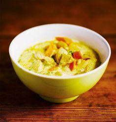 Kanakeitto | Kodin Kuvalehti Egg Recipes, Wine Recipes, Deviled Eggs, Cheeseburger Chowder, Guacamole, Food Inspiration, Nom Nom, Curry, Food Porn