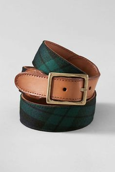 Wool overlay belt Blackwatch Plaid
