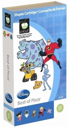 Cricut Cartridge, Best of Pixar BRAND NEW IN BOX IN SEALED BLISTER PACK