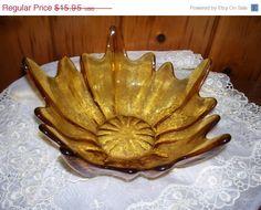 Viking Epic Amber Glass Bowl