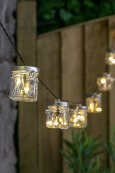 These solar powered firefly jam jar lights are so beautiful, they complement any outdoor space. They're perfect for wedding décor too and fit right into a shabby chic, handmade DIY theme. Jar Lights, String Lights, Glass Jars, Mason Jars, Fireflies In A Jar, Art Test, Sun Power, Forest Garden, Jam Jar