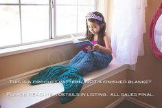 Crochet Pattern for Mermaid Tail Blanket DIY von crochetbyjennifer