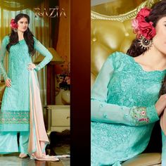 RAZIA  MARIA B DESIGN GEORGETTE SUIT UNBEATABLE PRICES AT ZAHRAA OUTFIT'S  GET YOURS NOW