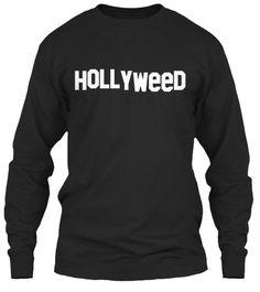 Hollyweed Black Camiseta de Manga Larga Front