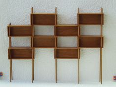 Mid Century Modern Miniature Modular Shelf Unit Room by minisx2 Could this be done with boxes and dowels