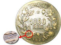 Moedas do Brasil Foreign Coins, Valuable Coins, Coin Art, World Coins, Hidden Treasures, Rare Coins, Coin Collecting, Fountain Pen, Stuff To Do