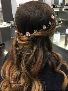 Tying the 'Knot' - Wedding Hair Half Up Half Down, Something Beautiful, Tie The Knots, Hair Designs, Flower Crown, Wedding Hairstyles, Designers, Long Hair Styles, Bridal