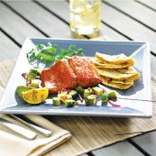 Grilled and Glazed Salmon with Jack Daniels...Oh, my.  Can't wait to try it!