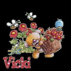 Vicki loves flowers