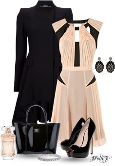 """* BLUSH & BLACK *"" by hrfost1210 on Polyvore"