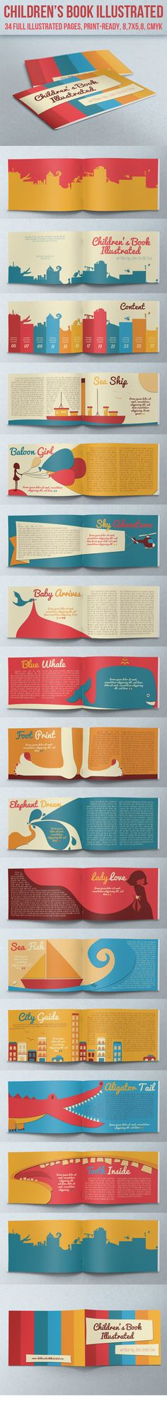 Children's Book Illustrated by crew55design , via Behance