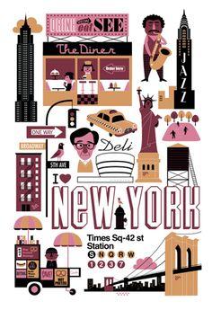 New York Ingela P Arrhenius - Illustration - Agent Molly & Co New York Illustration, Gravure Illustration, Travel Illustration, Graphic Illustration, Nyc, Lagom Design, City Poster, Image Deco, Affinity Designer