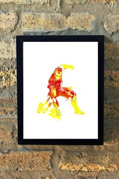 Hey, I found this really awesome Etsy listing at https://www.etsy.com/listing/204361596/iron-man-marvel-comic-watercolor-print