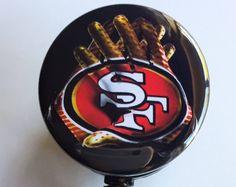 "1-1/2"" San Francisco 49ers Football inspired ID badge reel"