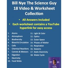 Bill Nye Photosynthesis Worksheet together with bill nye food chain ...