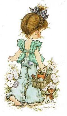 28 Ideas for basket illustration sarah kay Sarah Key, Holly Hobbie, Papier Kind, Australian Artists, Cute Illustration, Vintage Cards, Vintage Children, Cute Art, Cute Pictures