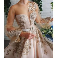 lace prom dresses 2020 long sleeve lace appliques beading sequins a line beading sequins crystal evening gowns Prom Dresses Long With Sleeves, A Line Prom Dresses, Lace Evening Dresses, Formal Dresses, Prom Dresses Flowers, Wedding Dresses, Long Sleeve Evening Gowns, Afternoon Dresses, Flapper Dresses