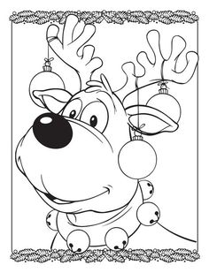 Follow the link below to download this coloring page! http://www.bendonpub.com/upload/coloring-pages/dec-reindeer.pdf