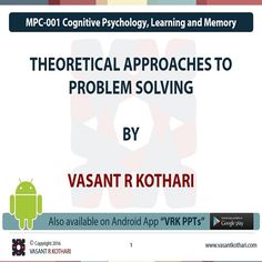 16 best cognitive psychology ignou mapc images on pinterest mpc 001 04 03 theoritical approaches to problem solving fandeluxe Image collections