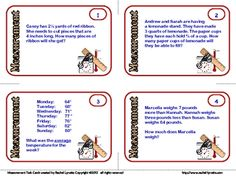 FREE Measurement Task Cards: Grades 4-6 image 2