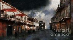 """""""The Road of No Return"""" ~ © 2016 RC deWinter ~ A dystopian view of an elegant New Orleans neighborhood. Shown here as an x canvas. Available in a wide selection of media, configurations and sizes."""