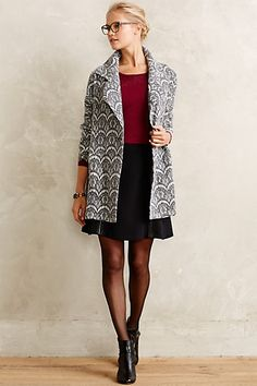 Graphite Lace Car Coat #anthropologie #anthrofave