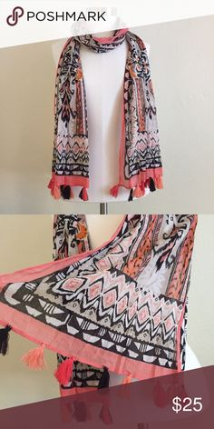 Fashion Tassel Scarf 🎀 + 100% cotton, made in India  + Fun tassel accident at the bottom 😍 + Don't forget to bundle 🛍