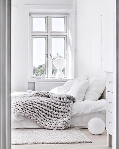 interior design inspo, scandinavian style, italianbark interior design blog, headboard decor idea, chunky blanket, bedroom decor idea