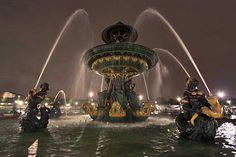 Fountains at Place de la Concorde, Paris, France
