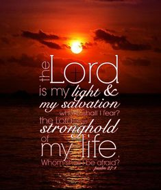 """""""The LORD is my light and my salvation; Whom shall I fear? The LORD is the strength of my life; Of whom shall I be afraid? Biblical Verses, Prayer Scriptures, Faith Prayer, Scripture Verses, Bible Verses Quotes, Faith In God, Faith Quotes, Bible Encouragement, Favorite Bible Verses"""
