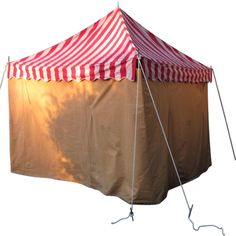 Vintage 1940s circus tent.....great for a whimsical backyard cabana.