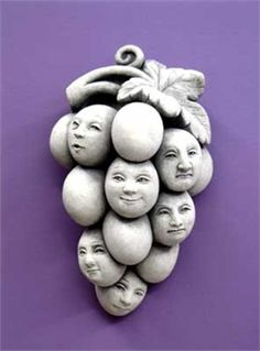 "Not all grapes are created equal. This group has a few sour attitudes to deal with. My advice is to hang this sculpture in the backyard or kitchen, and stop ""whining""."