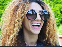 Occhiali da sole Sunglasses rotondi over size da Donna grandi