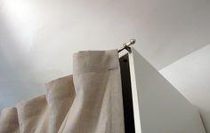 curtain as door in IKEA Pax wardrobe