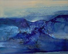 ZAO WOU-KI 1921 - 2013 27.12.00 signed in Pinyin and Chinese.; signed in Pinyin and dated 27.12.00 on the reverse, framed, oil on canvas 65 by 81 cm