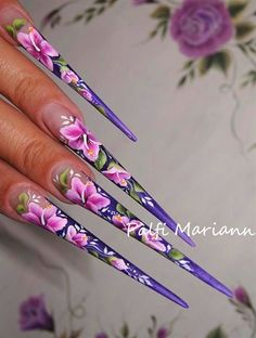 one stroke hibiscus by muci5 from Nail Art Gallery