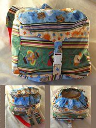 Custom Baby Shoe - Handmade Toddler Back Pack - Red Strap