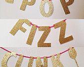 Pop Fizz Clink Banner - Mimosa Bar Banner - Mimosa Sign - Cheers Banner - Champagne Bar Banner - Bubbly Banner - Bachelorette Decor