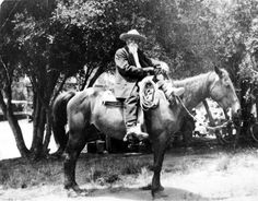 Franciso Trujillo on a horse with a lasso attached to the saddle, circa 1910. Trujillo was one of the first homesteaders in Topanga.  Topanga Historical Society. San Fernando Valley History Digital Library.