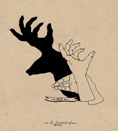 Lara Mendes Hand Shadows - If you've ever been interested in learning how to make very cool and seemingly complex shadow art on your walls using only your hands, you should. Shadow Art, Shadow Play, Shadow Puppets With Hands, Hand Shadows, Bd Art, Shadow Theatre, Puppet Patterns, Hand Puppets, Tattoo Drawings