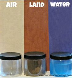 """""""We live on the earth. It is made up of three things: land, water and air."""" This lesson is a great introductory one for preschoolers."""