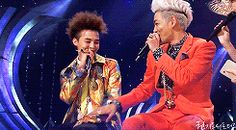 "BROMANCE -- GD talking about TOP-""I almost fell in love with TOP. There are times when I was joking with TOP in the car, and I felt attracted to him… If I were a girl, I would ask to be in a relationship with him on the spot. That's how much he influences me."" --GIF"