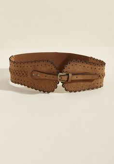 Vintage Wide Belts, Cinch Belts Tacit Accent Belt in Brown in S M $25.00 AT vintagedancer.com