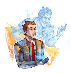 Rhys and Handsome Jack - Tales from the Borderlands