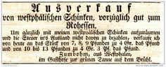 Original-Werbung/ Anzeige 1831 - WESTPHÄLISCHER SCHINKEN - ZUMBOHM /GASTHOF ZUR GRÜNEN TANNE  LEIPZIG - ca. 130 x 50 mm