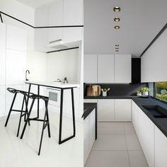 weisse und schwarze kuche zeitlose eleganz und design