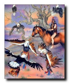 Native American Eagle Dancing Picture Art Print (16x20) Impact Posters Gallery http://www.amazon.com/dp/B00BSN1H32/ref=cm_sw_r_pi_dp_nmviub1C0AWYD