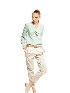 Schnittmuster: Chino - Bundfalten, schmale Hosenbeine - Weitere Hosen - Hosen - Damen - burda style