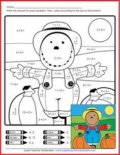 Fall Worksheets for Kindergarten. 20 Fall Worksheets for Kindergarten. Free Fall Worksheets for Kids Math Coloring Worksheets, Multiplication Worksheets, Free Kindergarten Worksheets, Addition Worksheets, Teacher Worksheets, Worksheets For Kids, Printable Worksheets, In Kindergarten, Math Activities